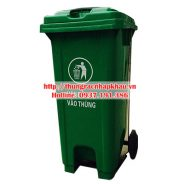 Thùng rác nhựa HDPE 120 lít đạp chân