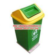 Thùng rác composite 90 lít nắp bập bênh