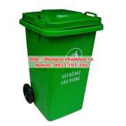 Thùng rác nhựa HDPE 100 lít bánh xe