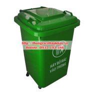 Thùng rác nhựa HDPE 60 lít bánh xe