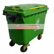 Thùng rác nhựa HDPE 660 lít bánh xe