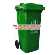 Thùng rác nhựa HDPE 120 lít bánh xe