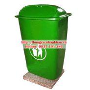 Thùng rác composite 50 lít nắp đẩy