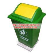 Thùng rác composite 60 lít nắp bập bênh