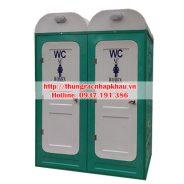 Nhà vệ sinh 2 buồng composite