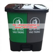 Thùng phân loại rác 2 ngăn 20Lx2