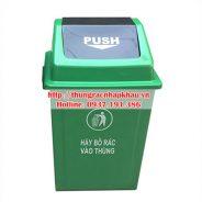Thùng rác nhựa HDPE 40 lít Push